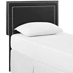Jasmine Twin Vinyl Headboard White Bed Frames Free Shipping