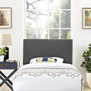 Lisa Twin Fabric Headboard Gray Headboards Free Shipping