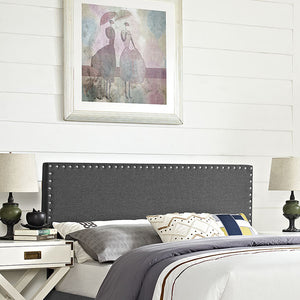 Lisa Full Fabric Headboard Gray Headboards Free Shipping