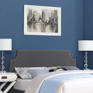 Lauren Queen Fabric Headboard Gray Headboards Free Shipping