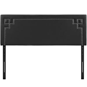 Ivy Full Vinyl Headboard Black Bed Frames Free Shipping