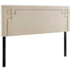 Ivy Full Fabric Headboard Beige Headboards Free Shipping