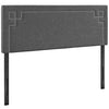 Ivy Full Fabric Headboard Gray Headboards Free Shipping