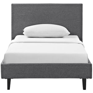 Emma Twin Fabric Bed Frame Gray Frames Free Shipping