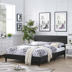 Emma Full Vinyl Bed Frame Black Frames Free Shipping