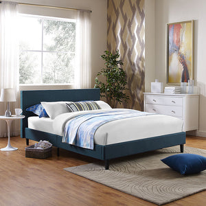 Emma Queen Fabric Bed Frame - living-essentials