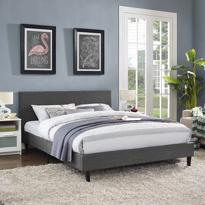 Emma Queen Fabric Bed Frame Azure Frames Free Shipping