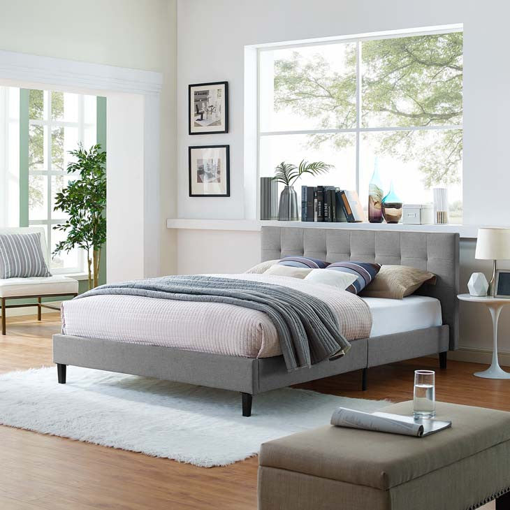Linda Full Fabric Bed Frame - living-essentials