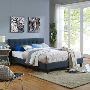 Linda Queen Fabric Bed Frame Azure Frames Free Shipping
