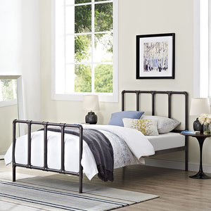 Cooper Twin Bed Brown Frames Free Shipping
