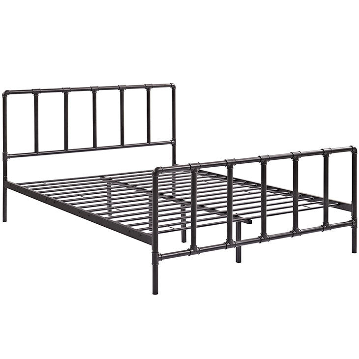 Cooper Queen Stainless Steel Bed - living-essentials