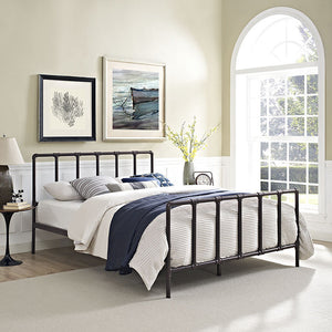 Cooper Queen Stainless Steel Bed Brown Frames Free Shipping