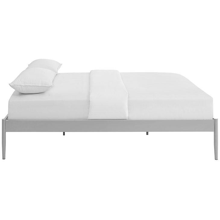 Chelsie Queen Stainless Steel Bed Frame - living-essentials