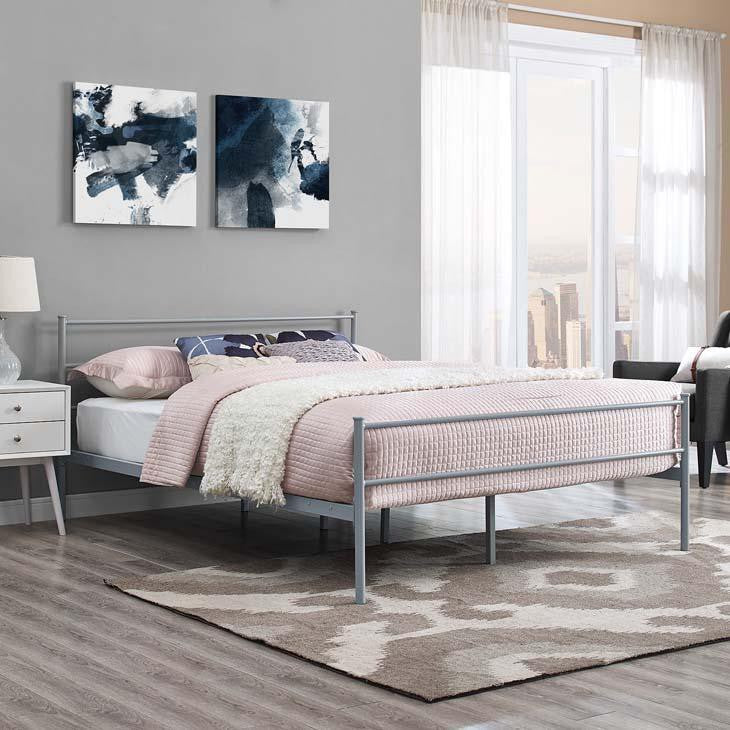 Alec Full Platform Bed - living-essentials