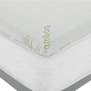 Tranquil Queen 2 Gel Memory Foam Mattress Topper White Mattresses Free Shipping