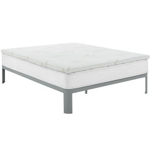 Tranquil King 2 Gel Memory Foam Mattress Topper White Mattresses Free Shipping