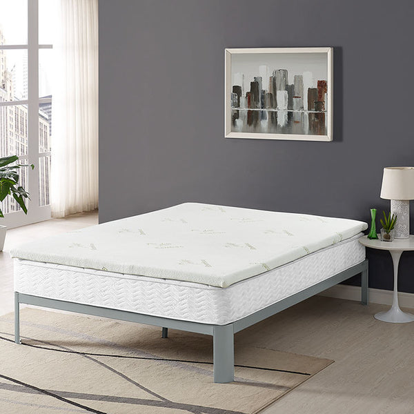 "Tranquil King 2"" Gel Memory Foam Mattress Topper - living-essentials"