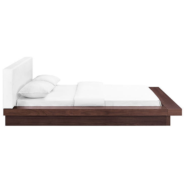 Farah Queen Vinyl Platform Bed - living-essentials
