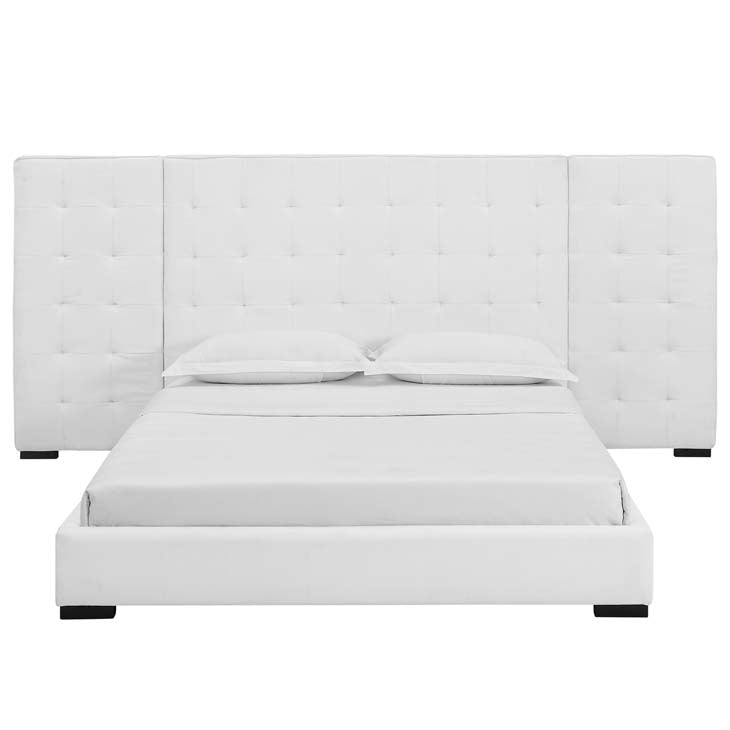 Spencer Queen Upholstered Fabric Platform Bed - living-essentials