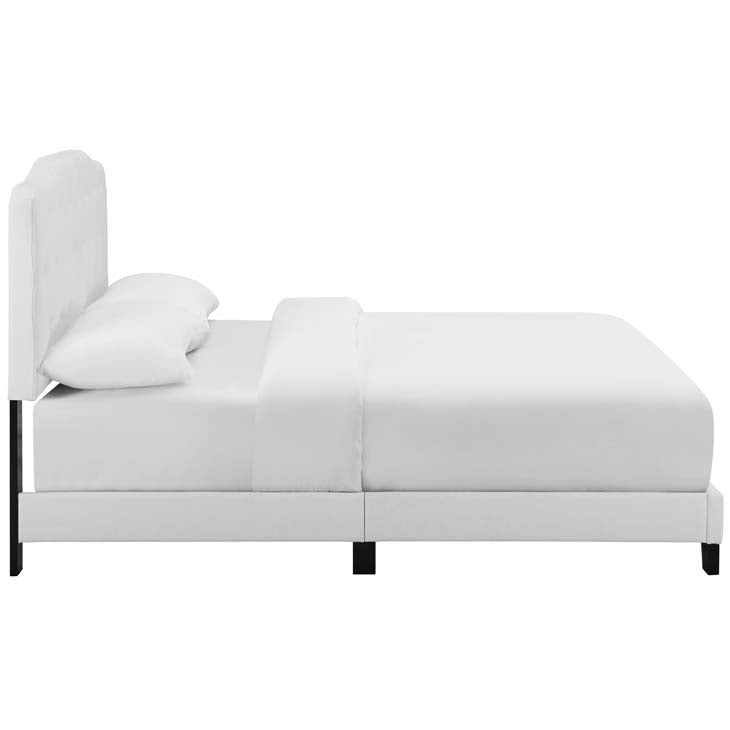 Alicia Full Upholstered Fabric Bed - living-essentials