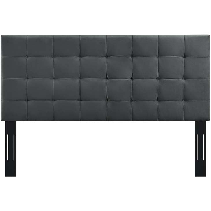 Argyle Tufted Twin Upholstered Performance Velvet Headboard - living-essentials
