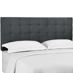 Argyle Tufted Full / Queen Upholstered Performance Velvet Headboard - living-essentials