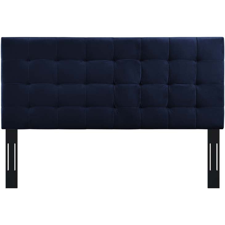 Argyle Tufted King and California King Upholstered Performance Velvet Headboard - living-essentials