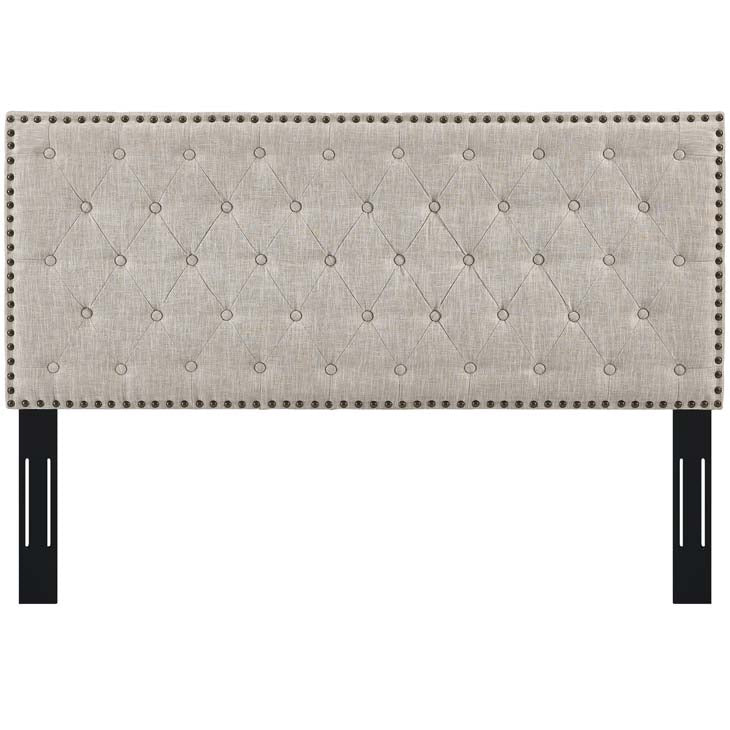 Hakeem Tufted Twin Upholstered Linen Fabric Headboard - living-essentials