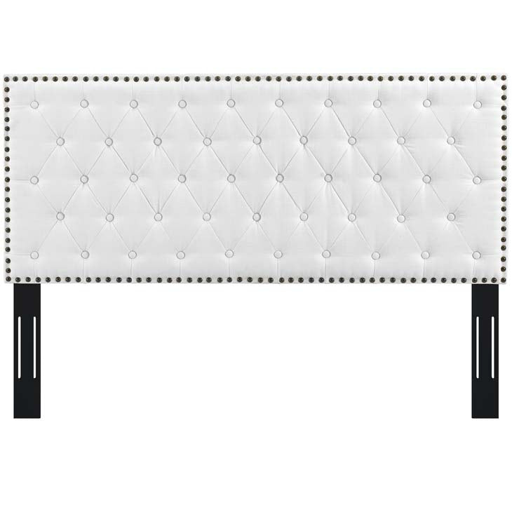Hakeem Tufted Full / Queen Upholstered Linen Fabric Headboard - living-essentials