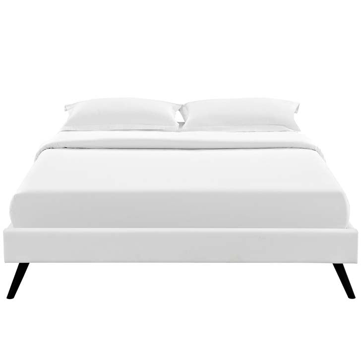 Lois Full Bed Frame with Round Splayed Legs - living-essentials