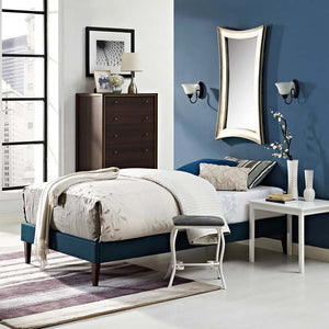 Tempo Twin Bed Frame With Squared Tapered Legs Frames Free Shipping