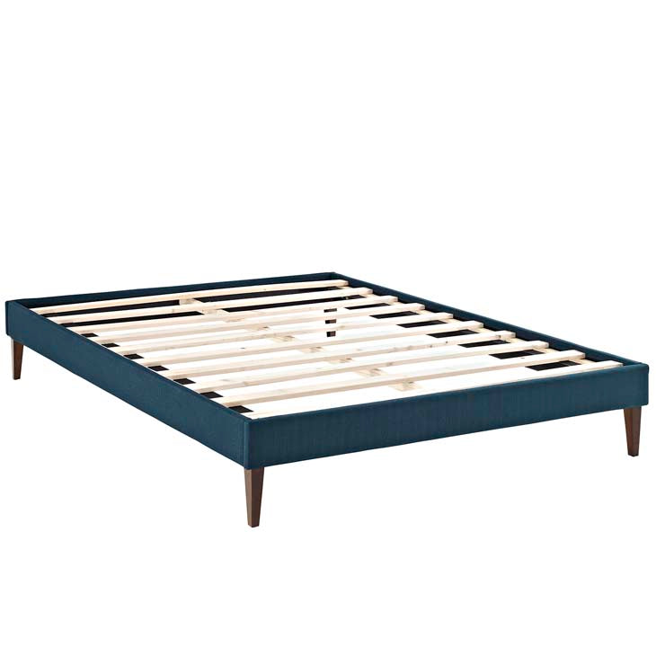 Tempo Azure Queen Bed Frame with Squared Tapered Legs - living-essentials