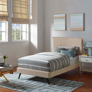 Amari Twin Platform Bed With Round Splayed Legs Frames Free Shipping