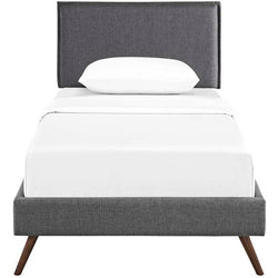 Amari Twin Platform Bed with Round Splayed Legs - living-essentials