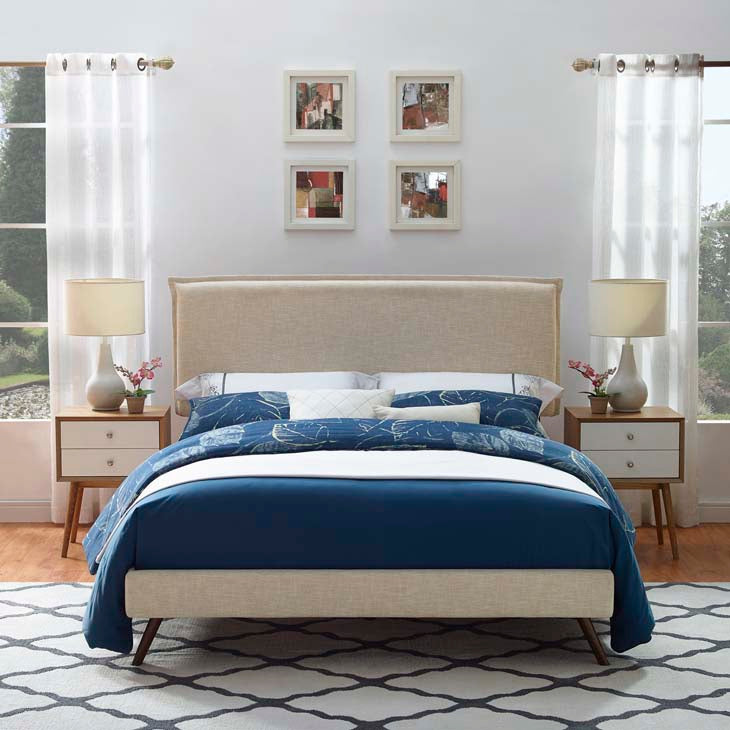 Amari Full Platform Bed with Round Splayed Legs - living-essentials
