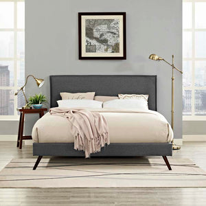 Amari King Platform Bed With Round Splayed Legs Gray Frames Free Shipping