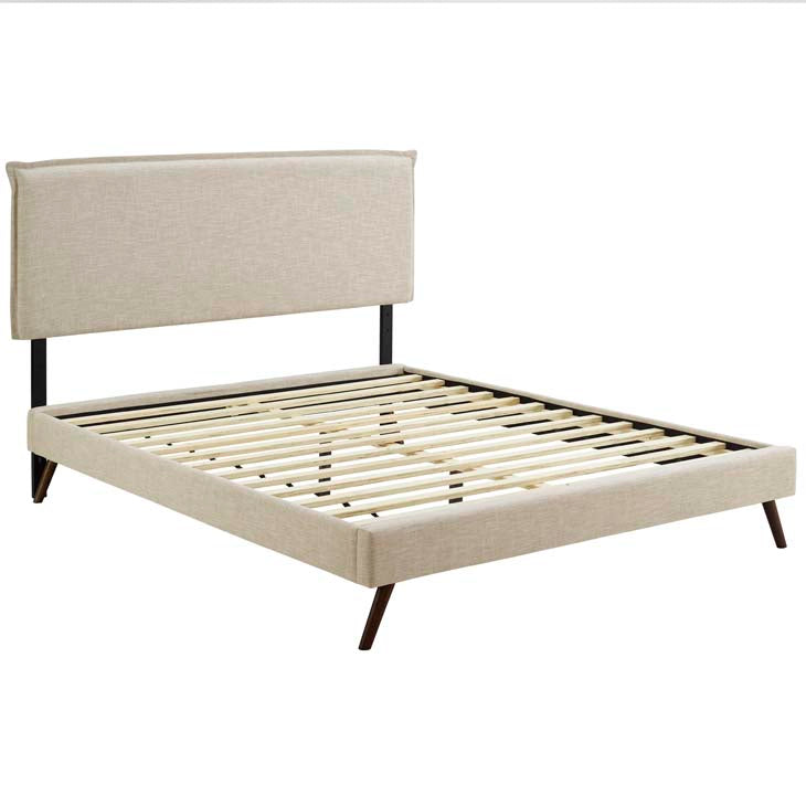Amari King Platform Bed with Round Splayed Legs - living-essentials