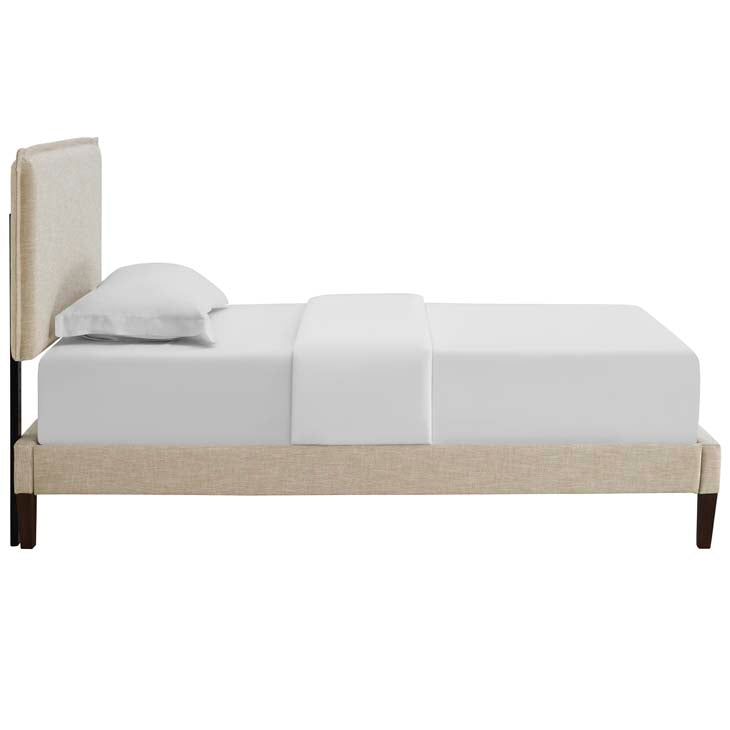 Amari Twin Platform Bed with Squared Tapered Legs - living-essentials