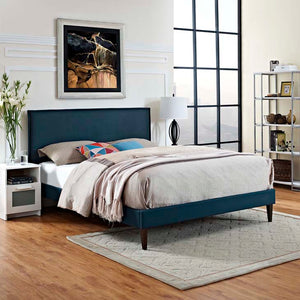Amari Queen Platform Bed With Squared Tapered Legs Azure Frames Free Shipping