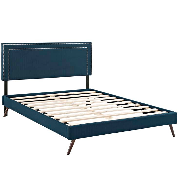 Veronica Queen Platform Bed with Squared Tapered Legs - living-essentials