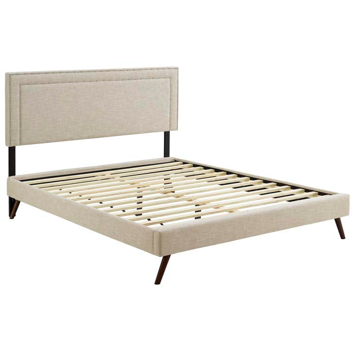 Veronica Twin Platform Bed with Squared Tapered Legs - living-essentials