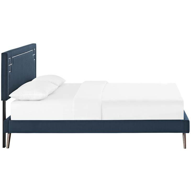 Ruby King Platform Bed with Round Splayed Legs - living-essentials