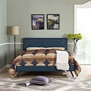 Ruby Full Platform Bed With Squared Tapered Legs Azure Frames Free Shipping