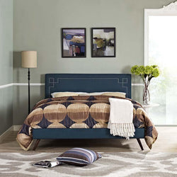 Ruby Full Platform Bed with Round Splayed Legs - living-essentials
