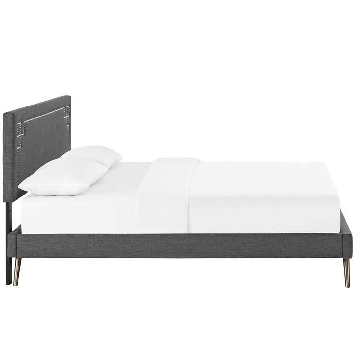 Ruby Queen Platform Bed with Squared Tapered Legs - living-essentials