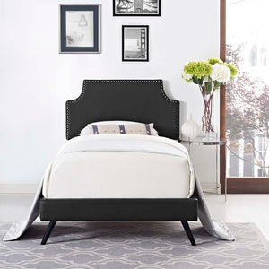 Conner Twin Platform Bed With Round Splayed Legs Black Frames Free Shipping