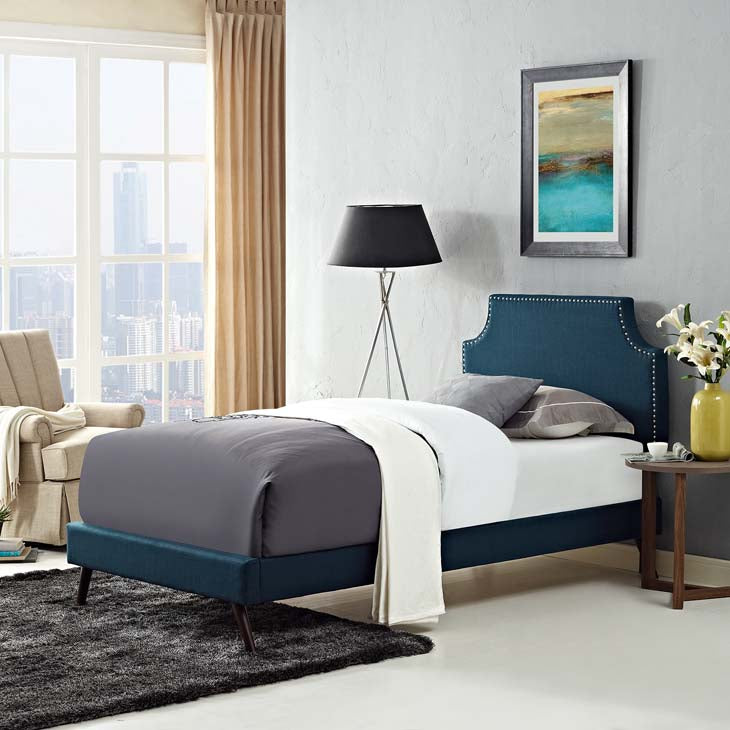 Conner Twin Platform Bed with Round Splayed Legs - living-essentials