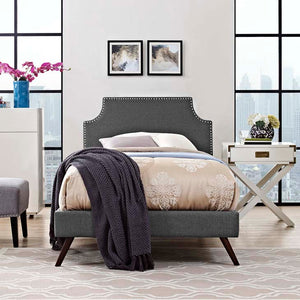 Conner Twin Platform Bed With Round Splayed Legs Azure Frames Free Shipping