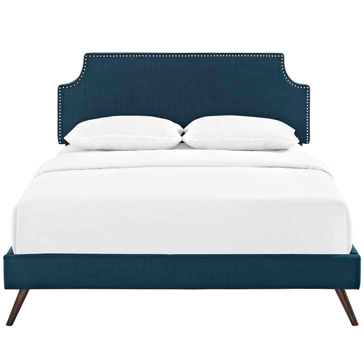 Conner Full Platform Bed with Round Splayed Legs - living-essentials