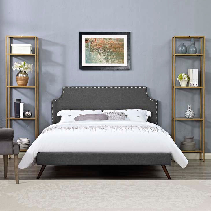 Conner Full Platform Bed with Squared Tapered Legs - living-essentials